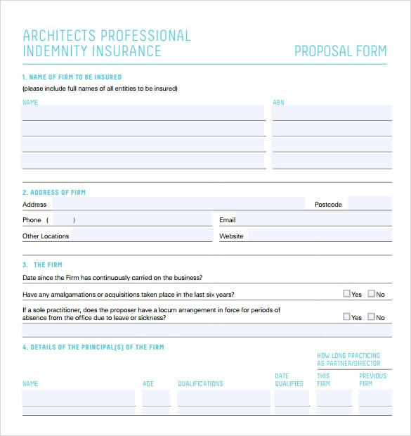 sample professional proposal format