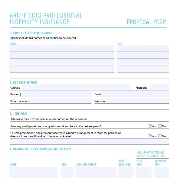 sample professional proposal format
