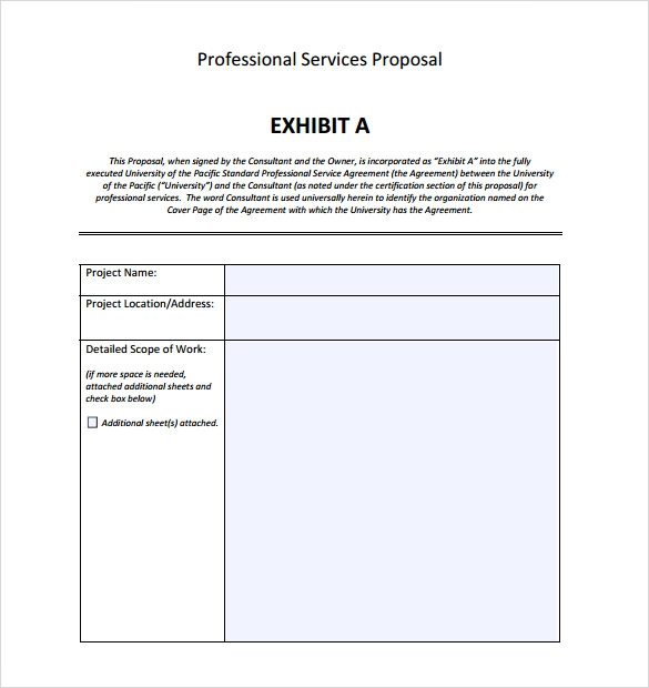 Proposal writing service word template