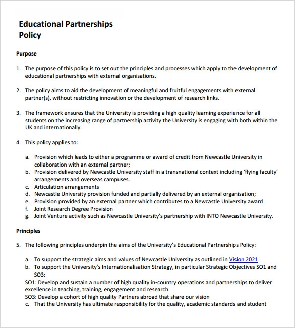 Sample Partnership Proposal   Documents In Pdf