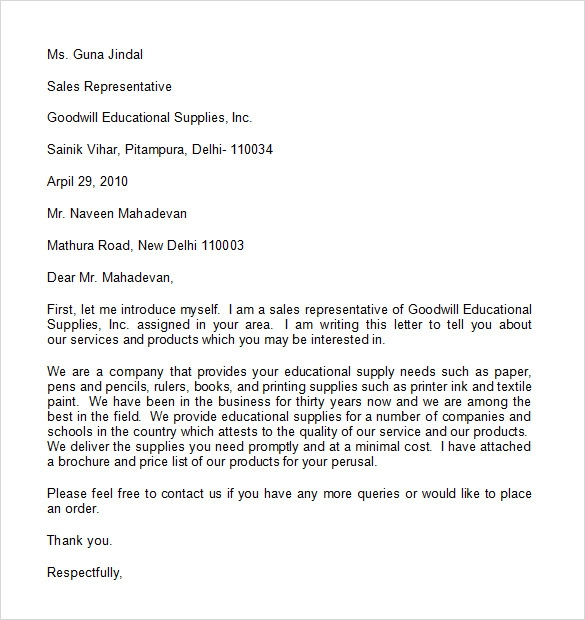 professional memo template word – Professional Sales Letter