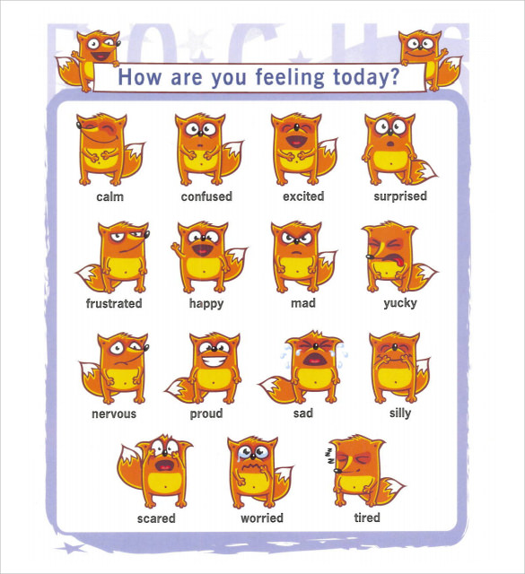Sample Feelings Chart 9 Documents In PDF – Feeling Chart