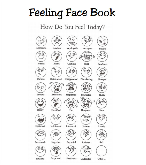 image relating to Printable Feelings Chart known as Printable Inner thoughts Chart For Older people Pdf - 18 printable