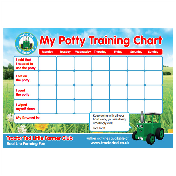 Potty Training Charts   Download Free Documents In Pdf