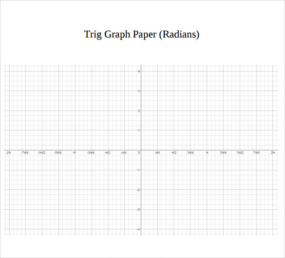 trig graph paper in radians
