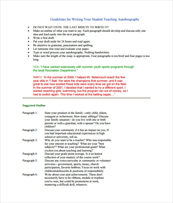 Sample Autobiography 10 Documents in PDF Word – Autobiography Template