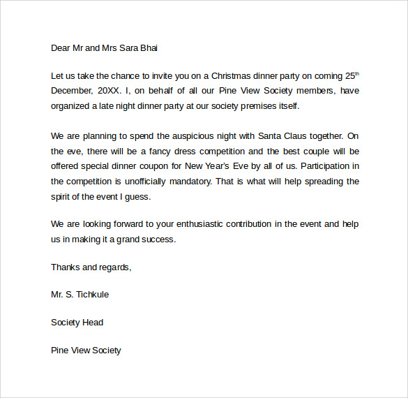 Dinner invitation letter idealstalist dinner invitation letter stopboris