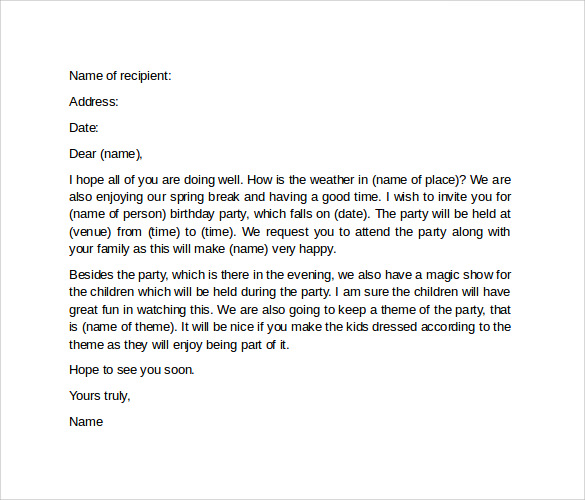 Invitation letter to a party selol ink invitation letter to a party stopboris