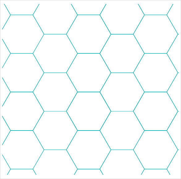 Free Hexagon Graph Paper Template  Graph Paper Sample