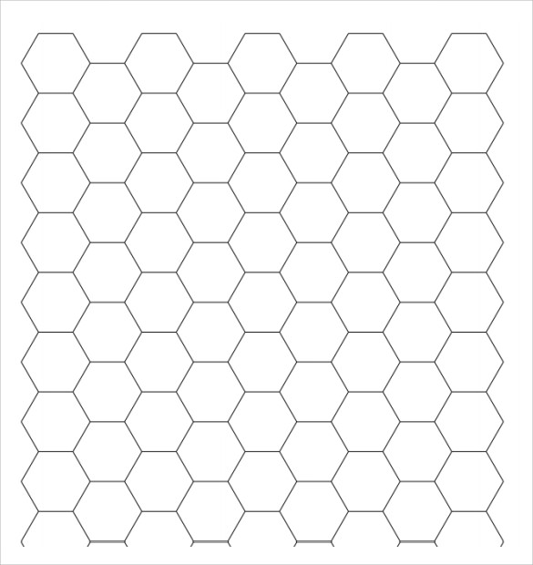 image regarding Printable Hexagons identify Pattern Hexagon Graph Paper - 6+ Information inside of PDF, PSD
