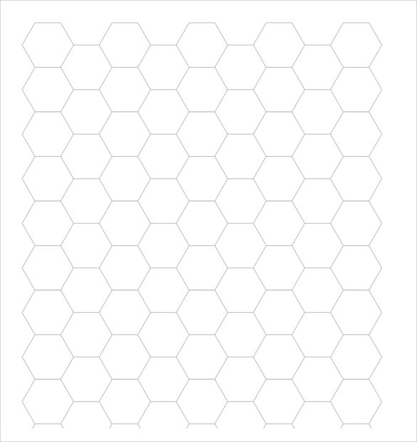 Hexagon Graph Paper Printable  PetitComingoutpolyCo