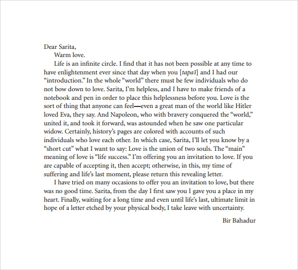 9 Sample Breakup Letters Sample Templates
