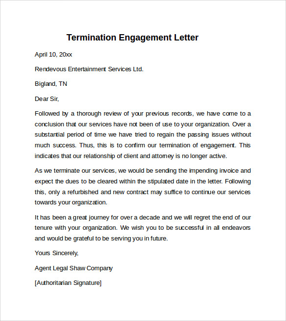 Sample Engagement Letter 9 Download Free Documents In