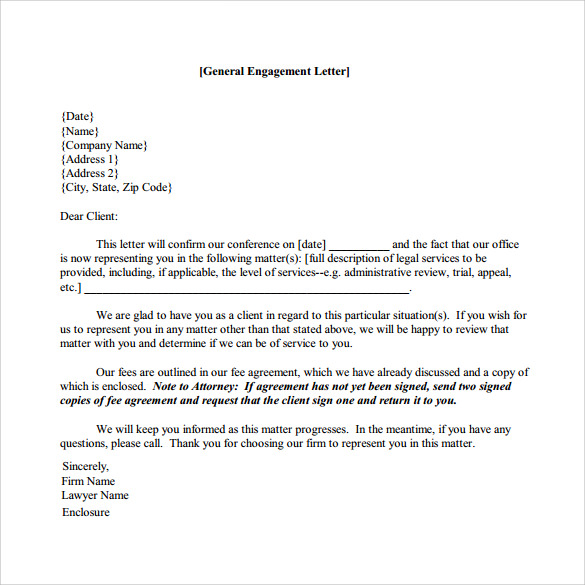 Sample engagement letter 9 download free documents in pdf word spiritdancerdesigns Gallery