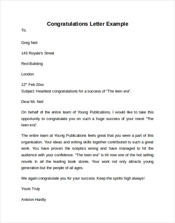 Eagle Scout Congratulatory Letter Request – Congratulation Letter