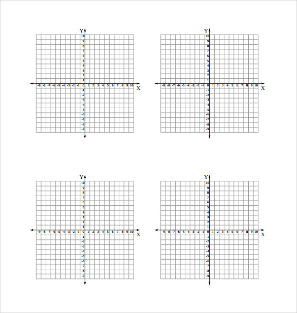 numbered graph paper with axis