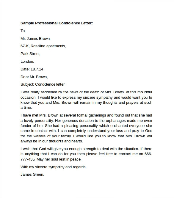 10 professional letters format to download