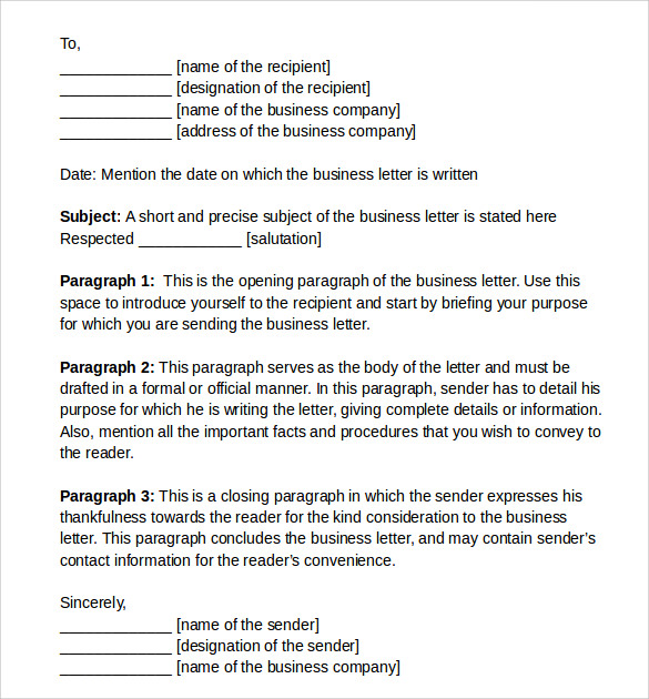 Sample Proper Letter Formats 8 Download Free Documents In PDF WORD – Sample Proper Letter Format