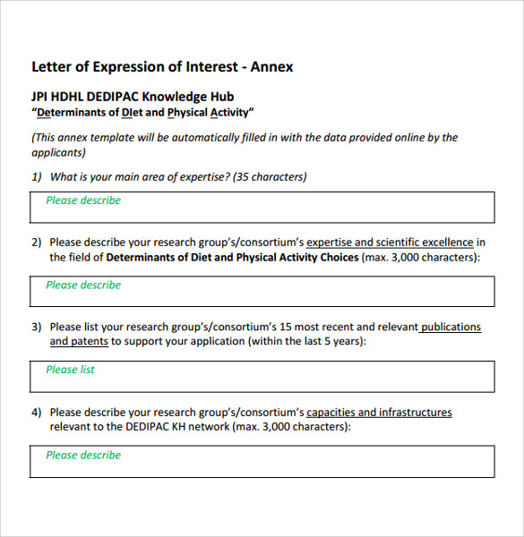 Sample Letter Of Interest 7 Download Free Documents In