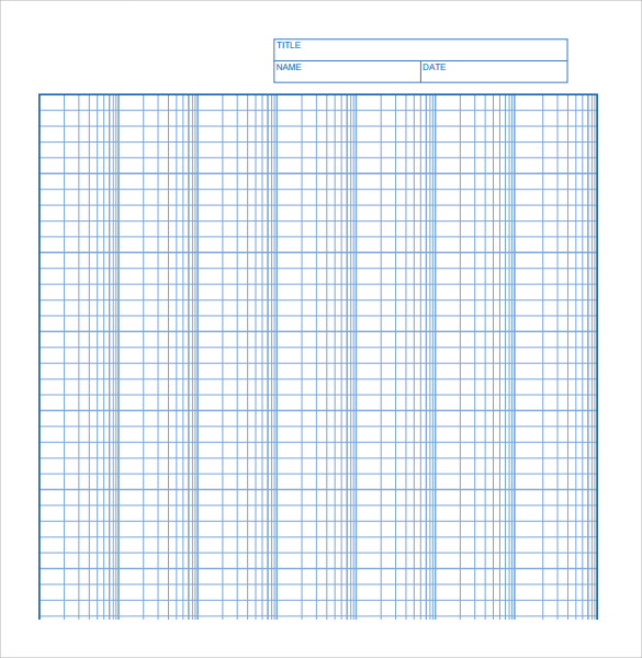 Sample Log Graph Paper 6 Documents in PDF Word – Download Graph Paper for Word
