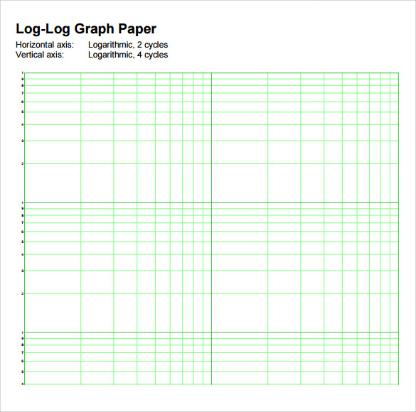 5 Cycle Semi Log Graph Paper Printable  Graph Paper Word Document