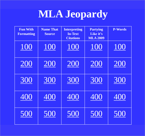 Jeopardy Board Template - 7 Download Documents In PDF , PPT | Sample ...