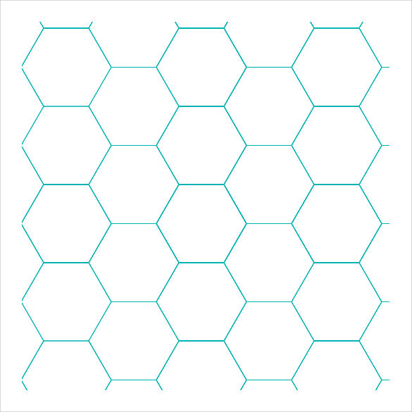 free hexagonal graph paper