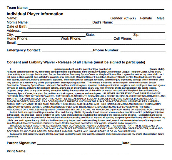 Sample Liability Waiver Form 9 Download Free Documents In PDF Word – Free Liability Release Form