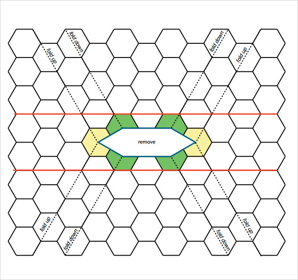 Captivating ... Paper Hexagon Templates By Sle Hexagonal Graph Paper 8 Free Documents  In Pdf Word ...