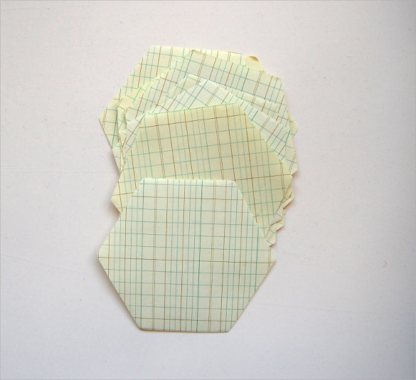 vintage hexagonal graph paper