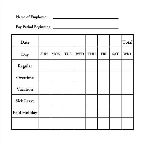 Payroll Timesheet Calculator   Download Free Documents In Pdf