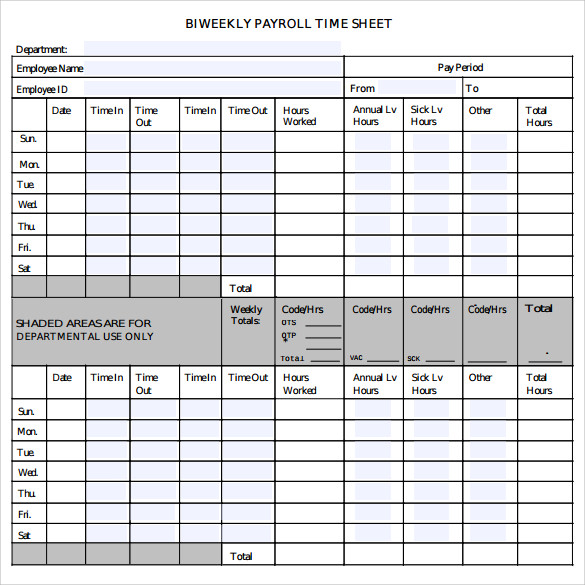 Payroll Timesheet Calculator - 6+ Download Free Documents In Pdf