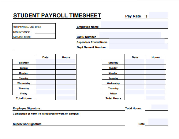 Exceptional Payroll Timesheet Calculator