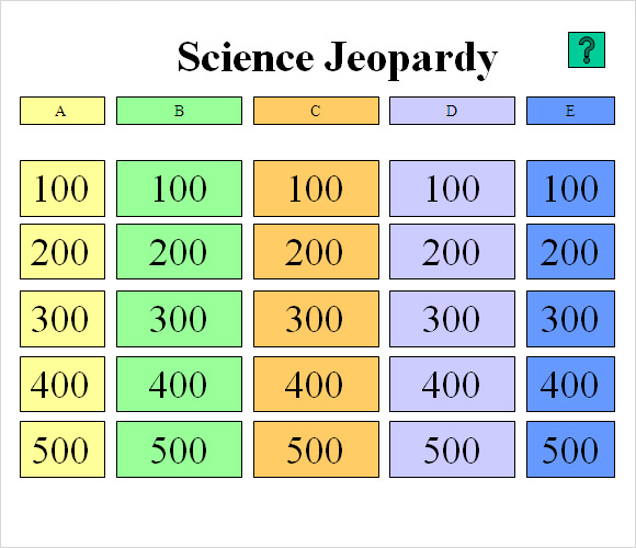 Examples Of Jeopardy Categories: 7+ Download Documents In PDF