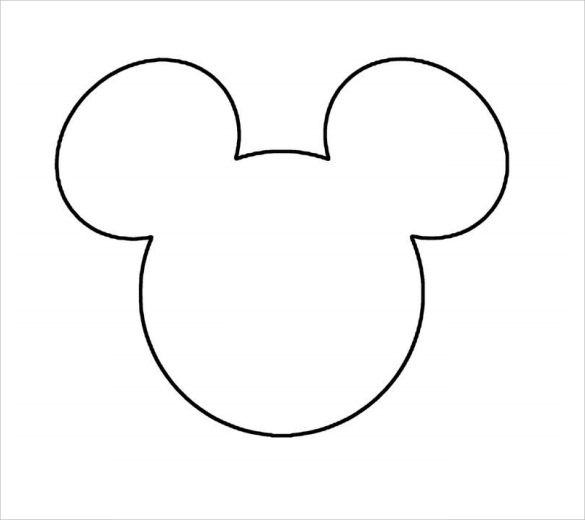 Persnickety image throughout mickey mouse template printable