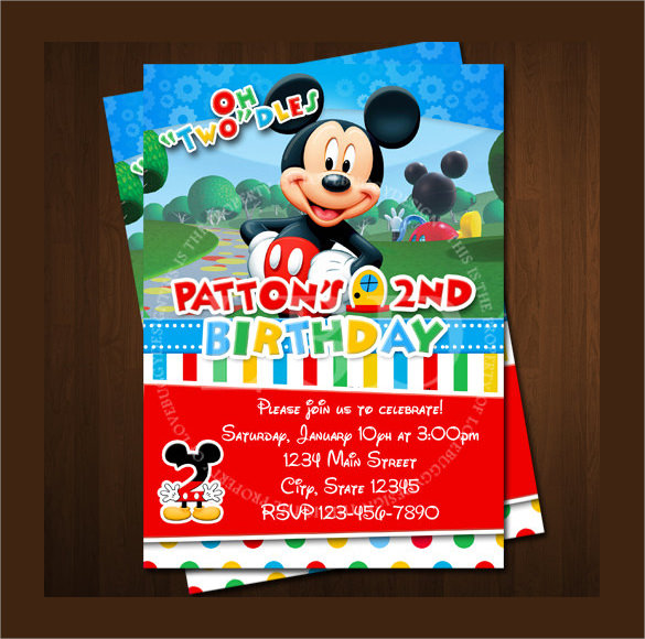 14 Mickey Mouse Invitation Templates to Download | Sample ...