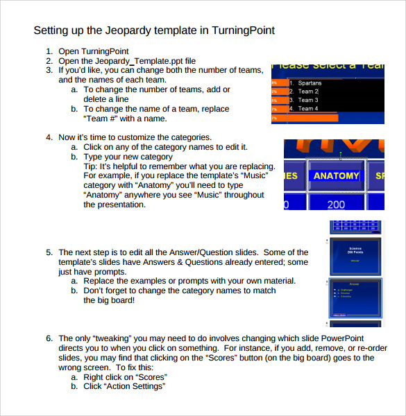 classroom jeopardy template instructions