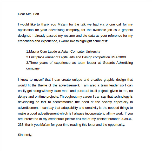 Sample Follow Up Interview Letter 9 Download Free Documents In