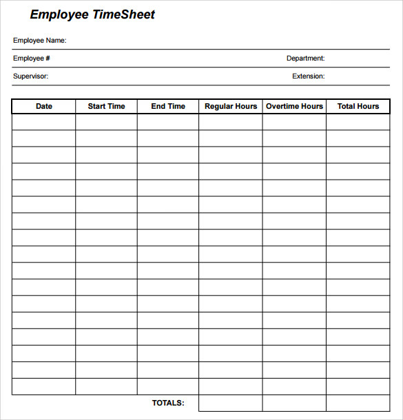 redcort timesheet 9  Sample Employee Timesheet Calculator Templates | Sample Templates