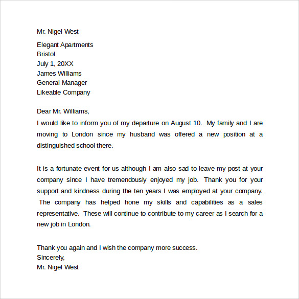 Sample Farewell Letters to Coworkers - 12+ Documents in ...