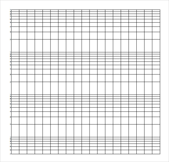 Sample Semilog Graph Paper  Graph Paper Word Document