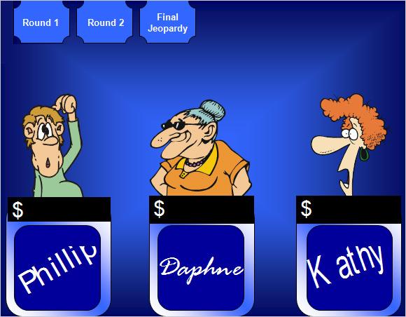 Sample Smart Board Jeopardy