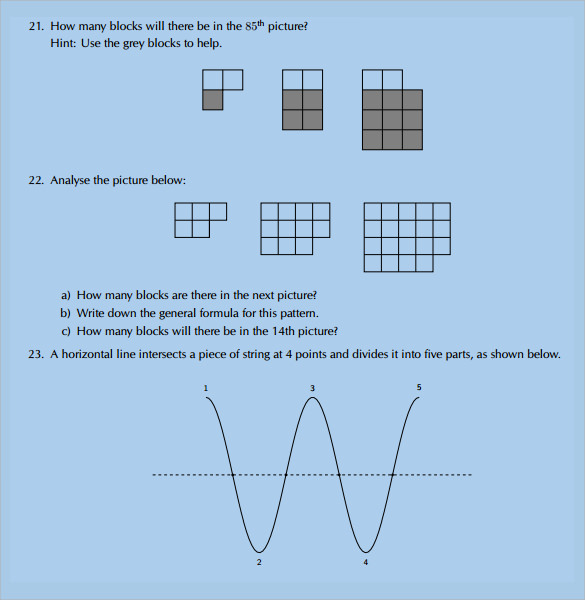 12 Math Worksheet Templates to Download for Free | Sample Templates