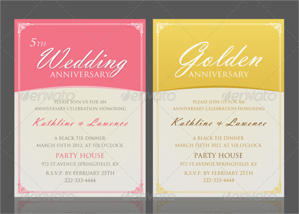 17 anniversary invitation templates to download sample templates. Black Bedroom Furniture Sets. Home Design Ideas