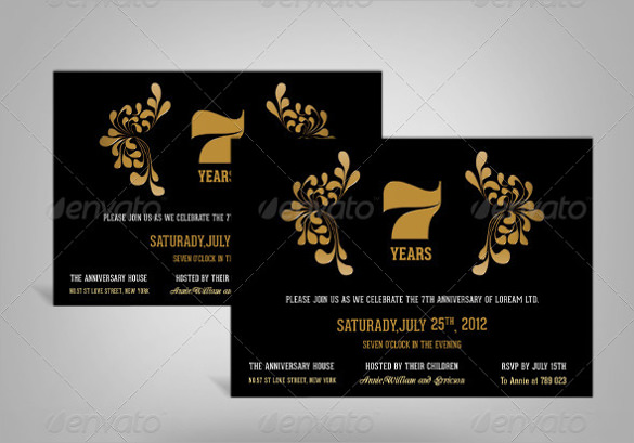 example of anniversary invitation template