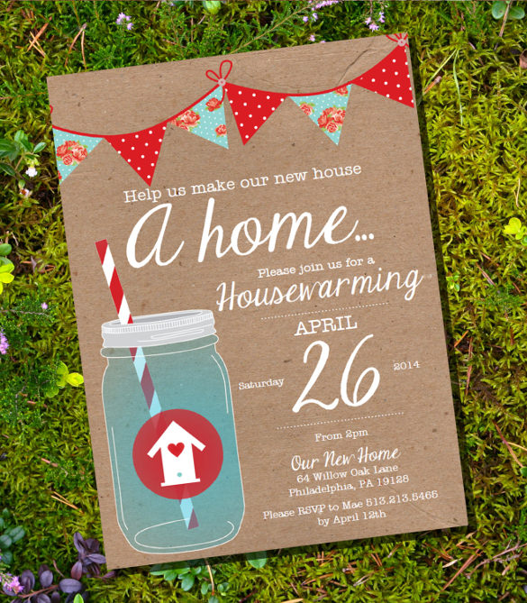 Housewarming Invite Template for luxury invitation example