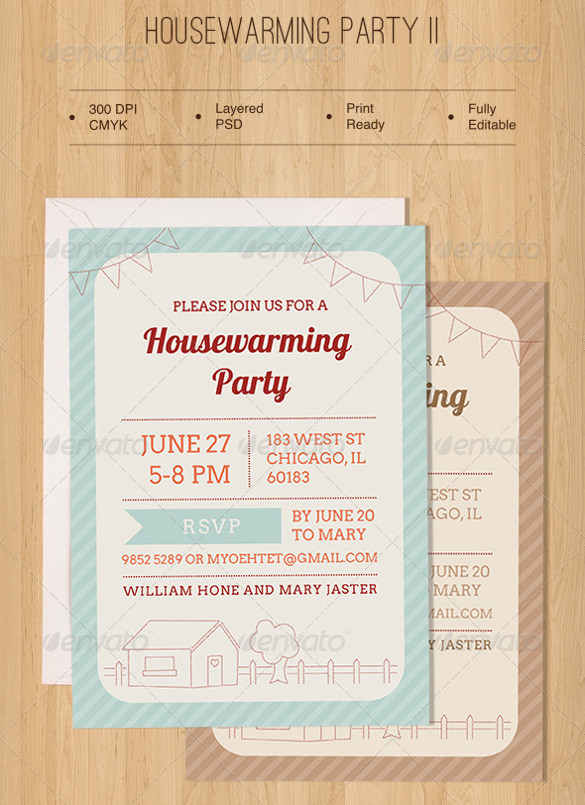 Sample Housewarming Invitation Template 11 Download Documents – Housewarming Invitations Templates