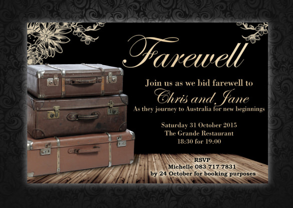 farewell invitations templates