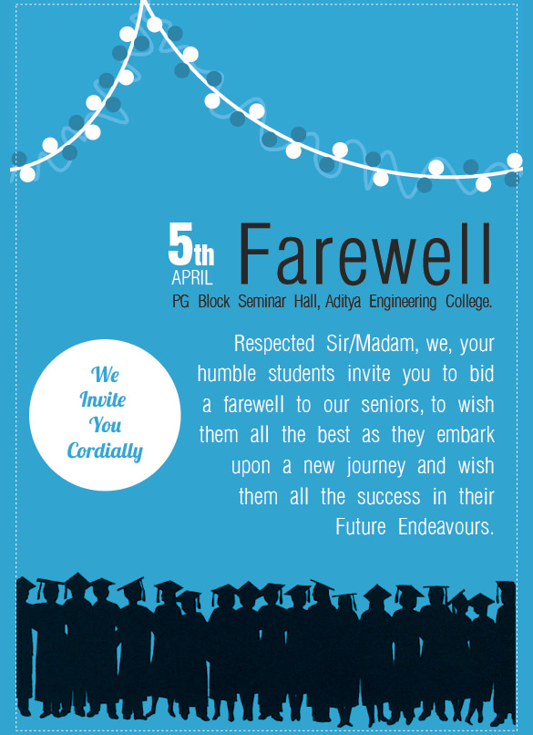 Farewell Flyer Template  BesikEightyCo