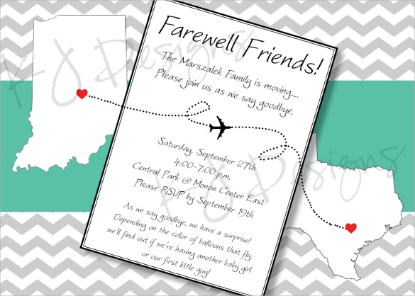 Sample Farewell Invitation Template 8 Download Documents in PDF – Farewell Invitations Templates